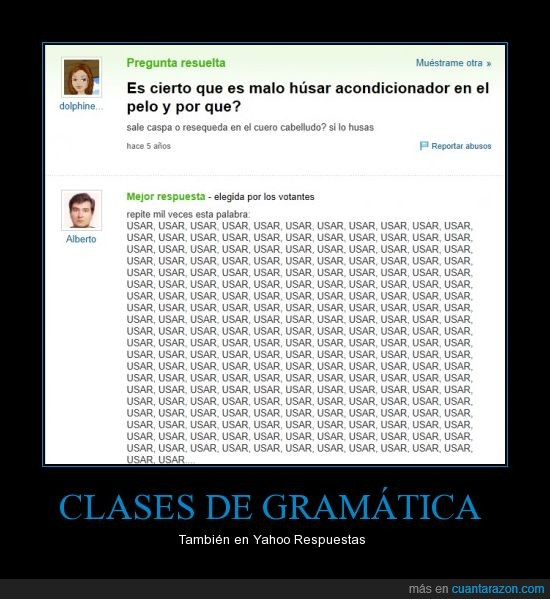 ortografia,usar,yahoo,yahoo answers