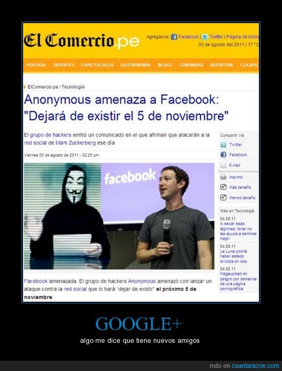 anonymous,ataque,facebook,google+
