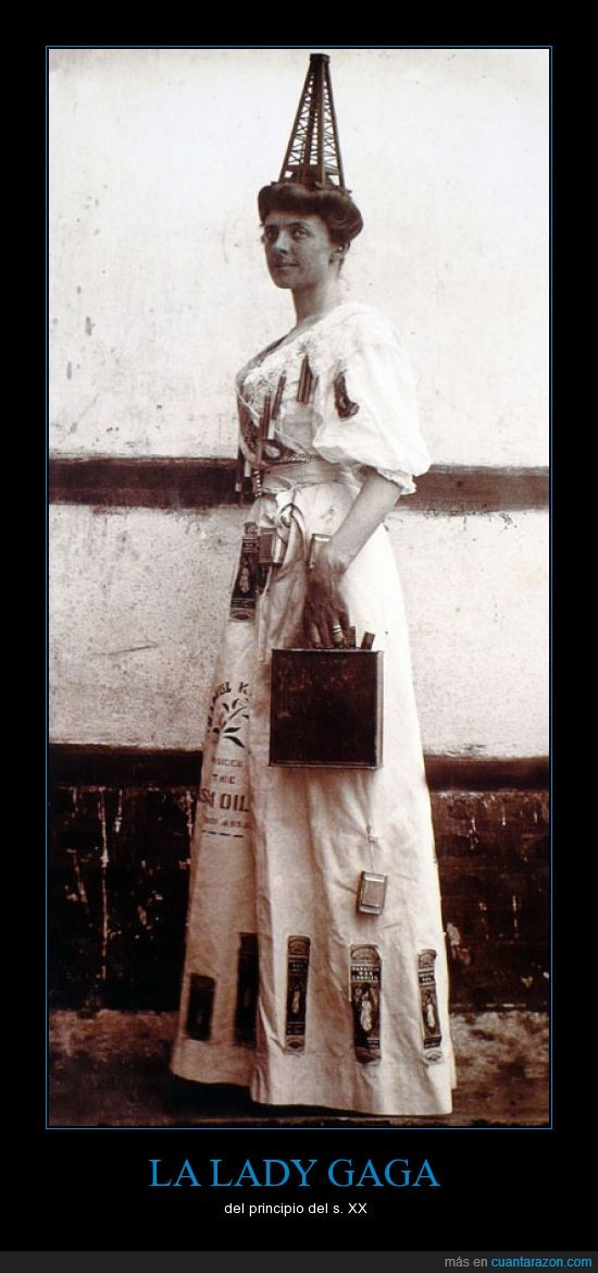 antiguo,gaga,lady,mujer,petroleo,retro,XX