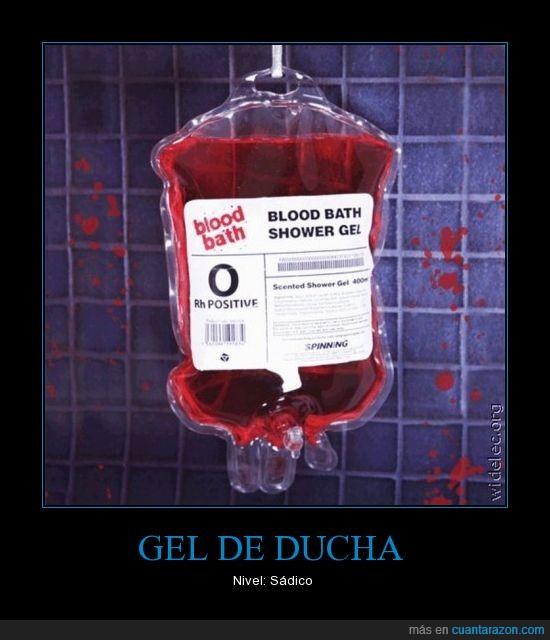 baño,gel de ducha,limpieza,sangre