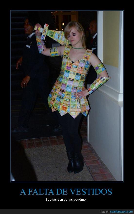 cartas,pokémon,vestido,wtf