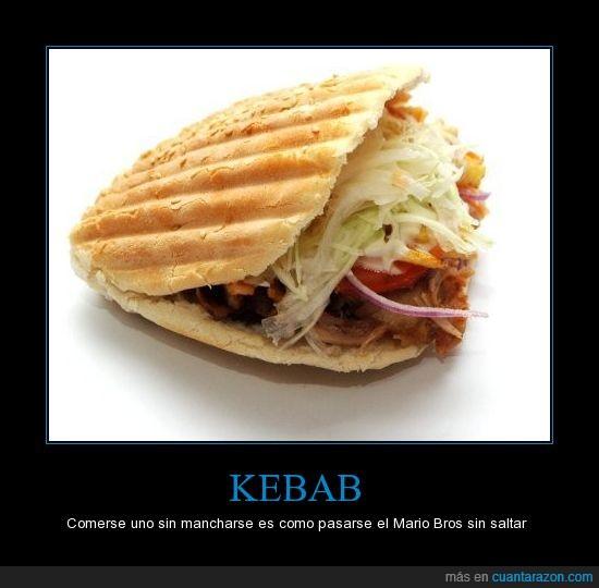 kebab,mancharse,Mario Bros