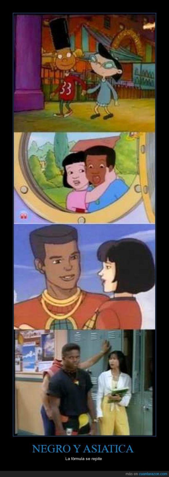 asiatica,formula,negro,pareja,tv