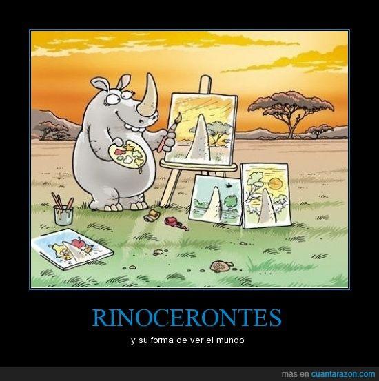 dibujos,pintar,rinoceronte