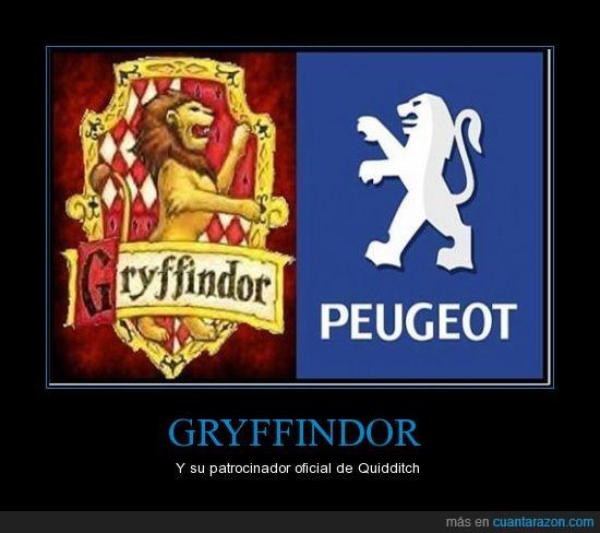 Gryffindor,patrocinador,Quidditch
