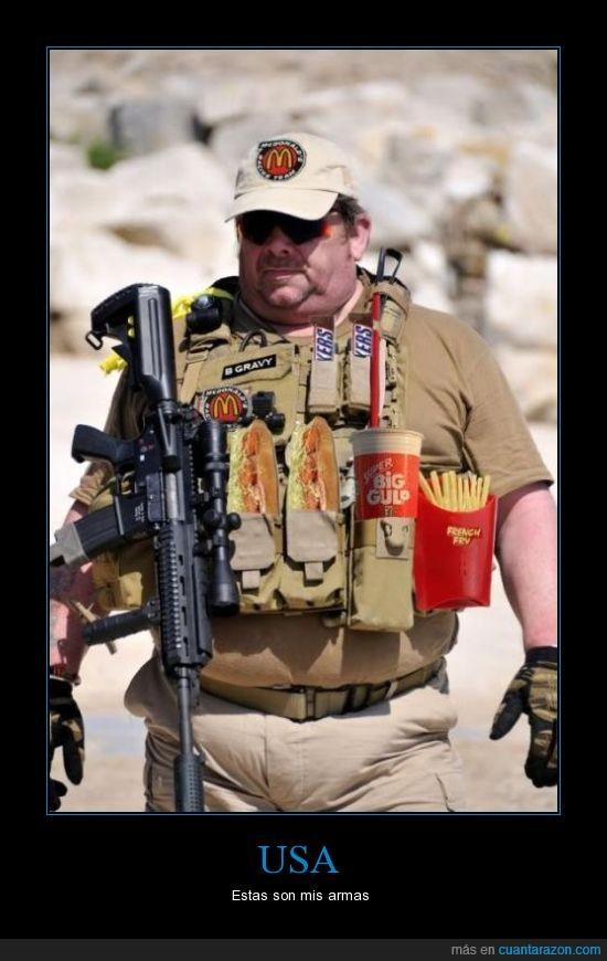 bebida,comida,patatas,soldado