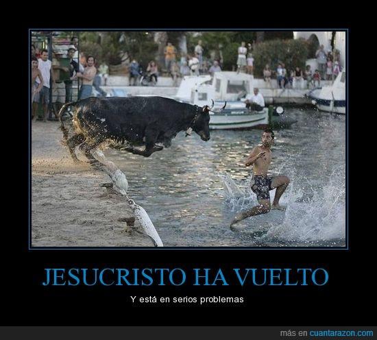 agua,chico,jesucristo,mar,toro