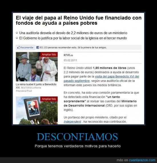 Benedicto XVI,Desconfianza,Fondos de ayuda,JMJ,países pobres,Papa,Reino Unido,Robo