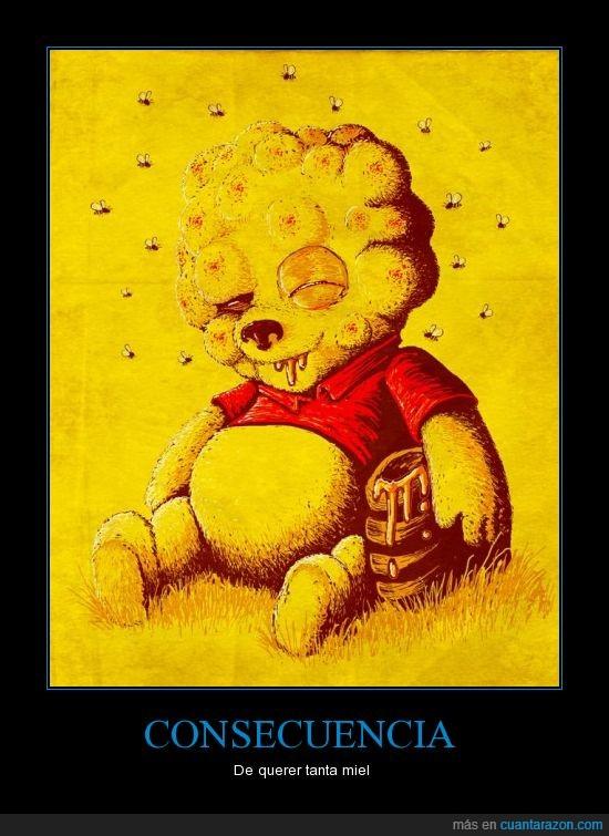 miel,oso,picaduras,winnie the pooh