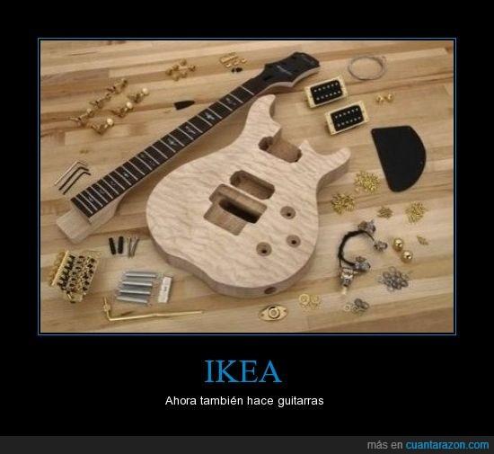 guitarra,ikea,madera,piezas