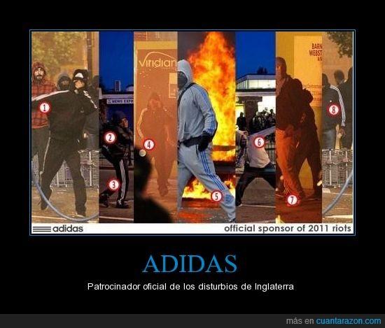 adidas,disturbios,londres,oficial,sponsor