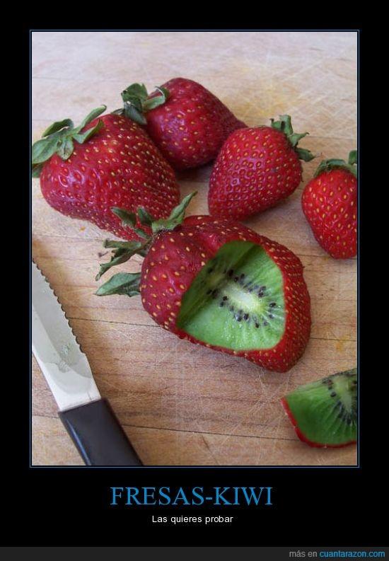fresas,fruta,kiwi