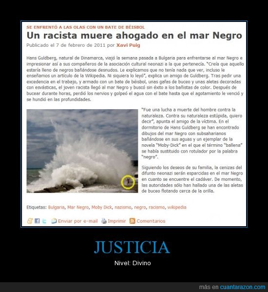 el mundo today,Esbastica,fake,falsa,humor,Idiota,mar negro,noticias,Owned,Racismo