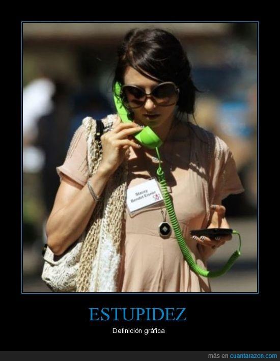 Estúpida,moda,móvil,teléfono