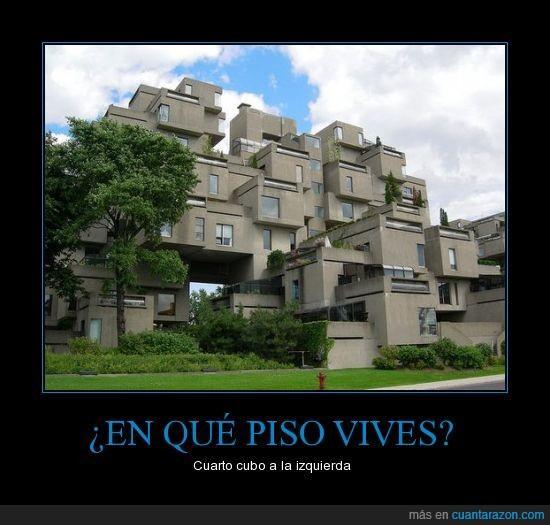 cubos,pisos raros,ventanas
