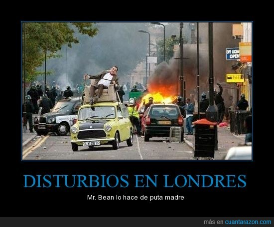 disturbio,Londres,Mr. Bean,protesta
