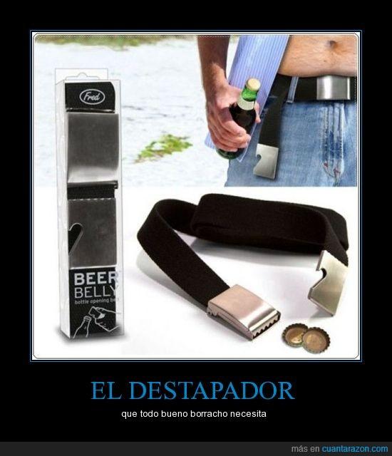 botellas,cinturon,destapar
