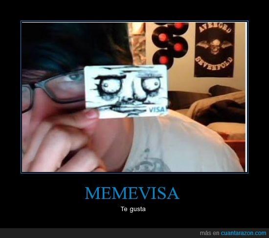 chico,loco,me gusta,meme,targeta,visa