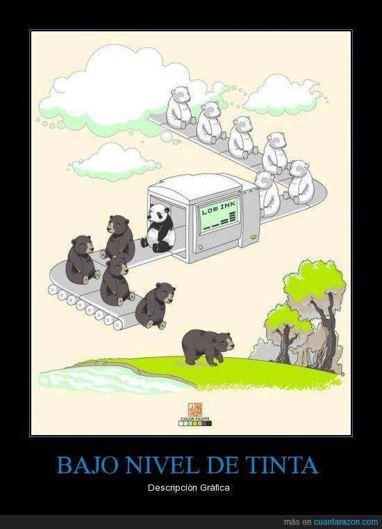 ink,low,osos,pandas,tinta