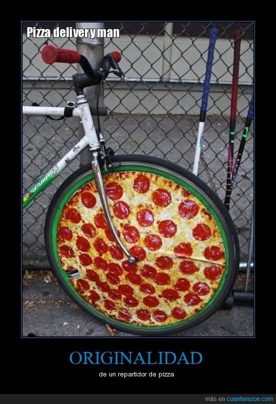 bici,llanta,pizza
