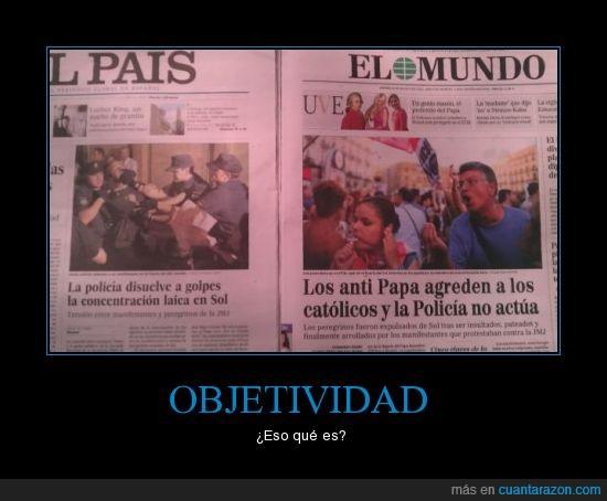 el mundo,el país,objetividad,periódico