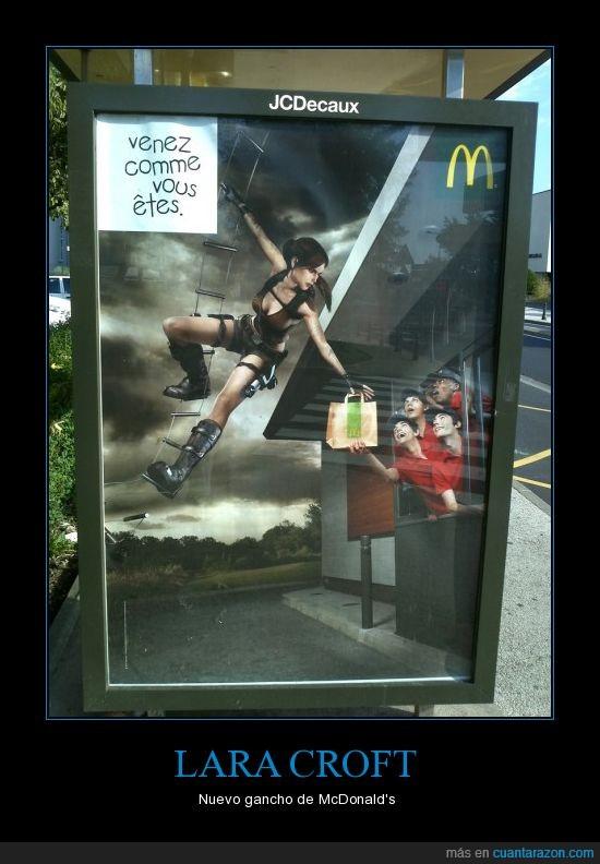 automac,Lara Croft,McDonald's