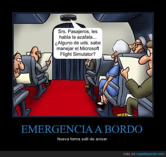 avión,emergencia,microsoft,sutileza