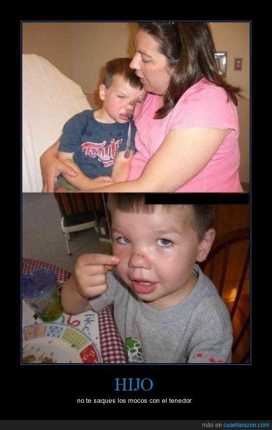 fail,niño,tenedor