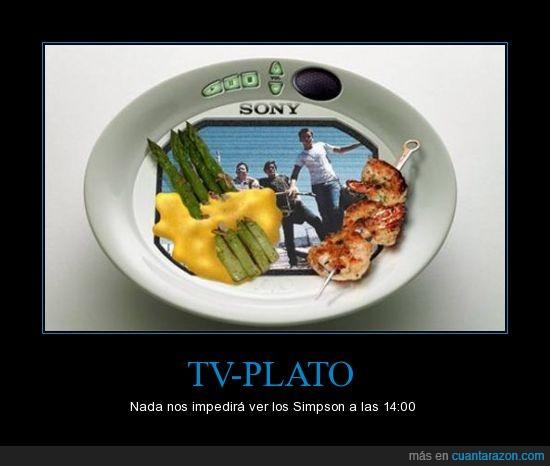 comida,plato,simpson,tele