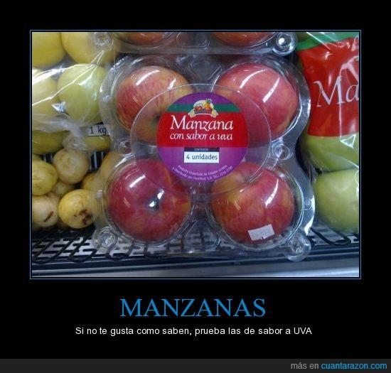manzanas,sabor,uvas