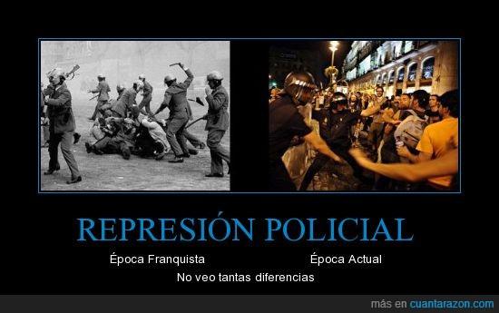 actual,franquista,laica,manifestacion,policial,represion