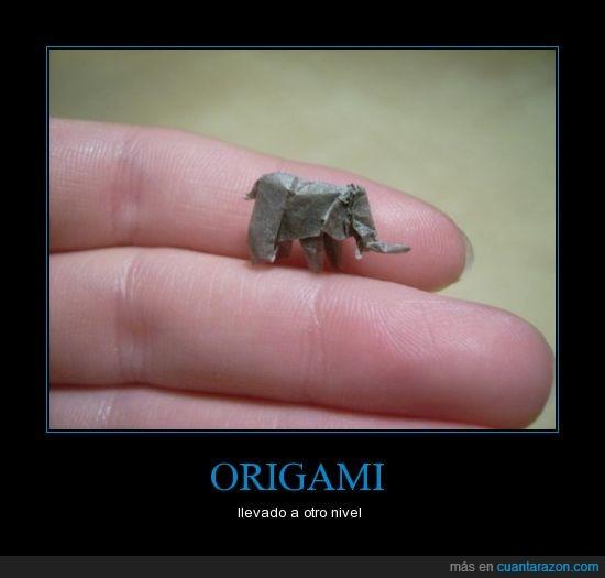 elefante,minusculo,origami,precisión