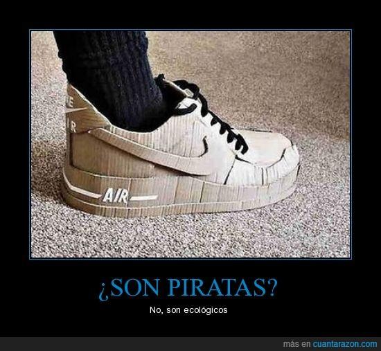 ecología,ingenio,Nike,piratería
