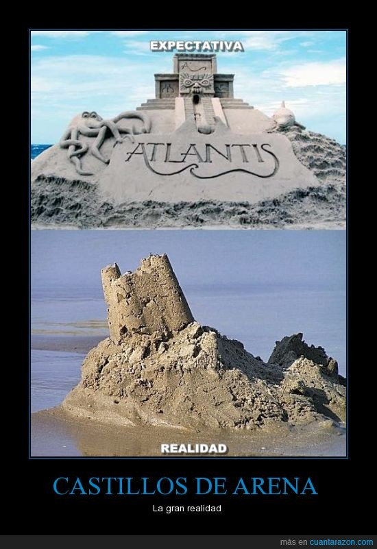 atlantis,castillos de arena,realidad