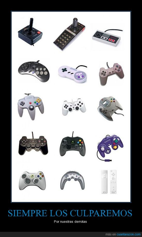 Controles,Derrotas,Nintendo,PS,Xbox