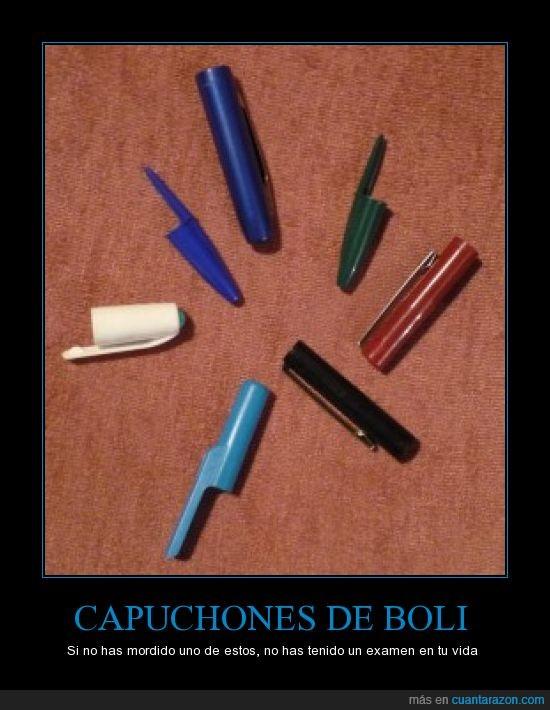 birome,capuchon,morder,nervios,pluma