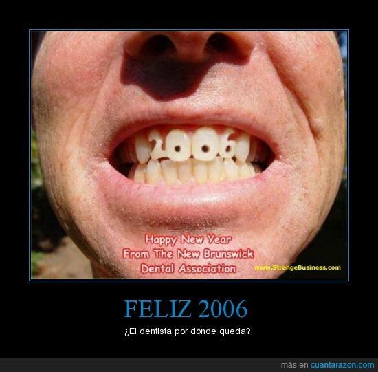 2006,año nuevo,diente,felicitación