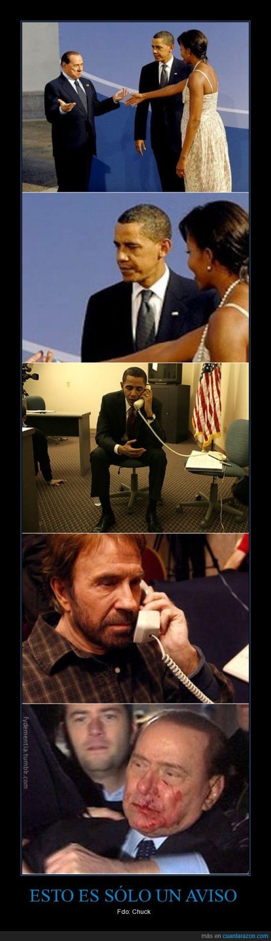 Berlusconi,Chuck Norris,Obama