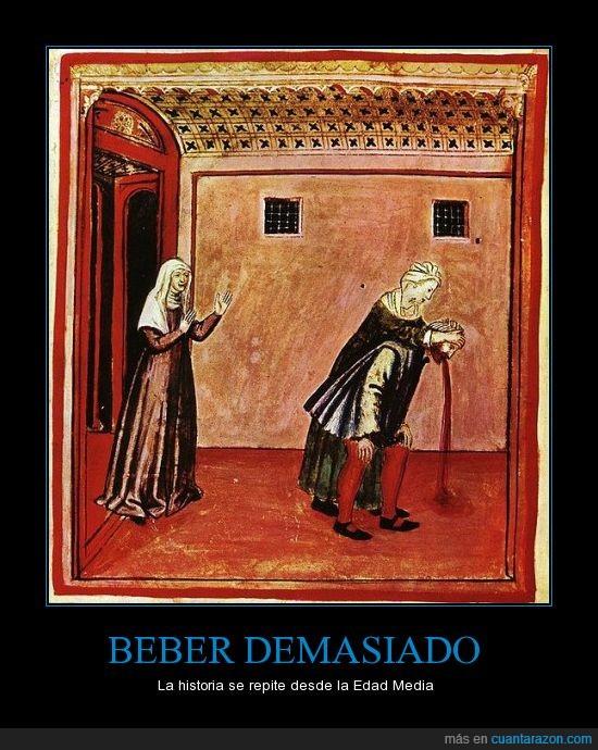 botellon,medieval,vomitar,vómito