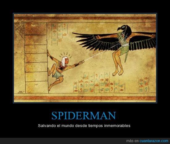 egipcios,pasado,spiderman,telaraña