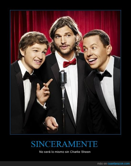 Ashton Kutcher,Charlie Harper,Charlie Sheen,despedido,dos hombres y medio,Two and a Half Men