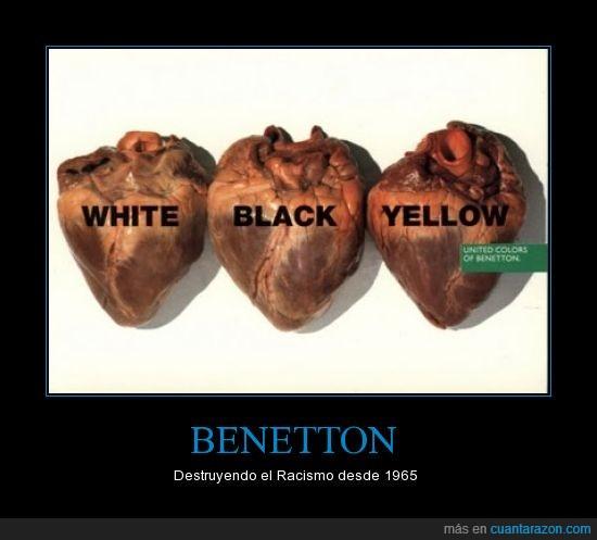 benetton,corazones,racismo,reales