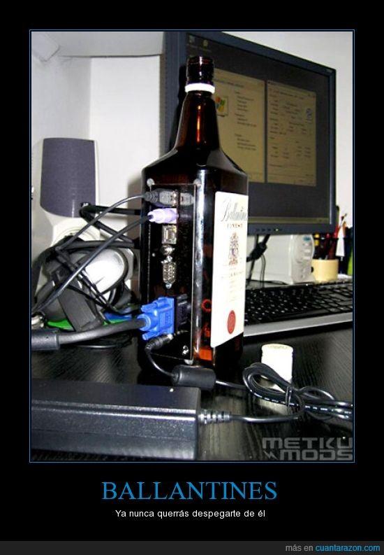 botella,caja,pc
