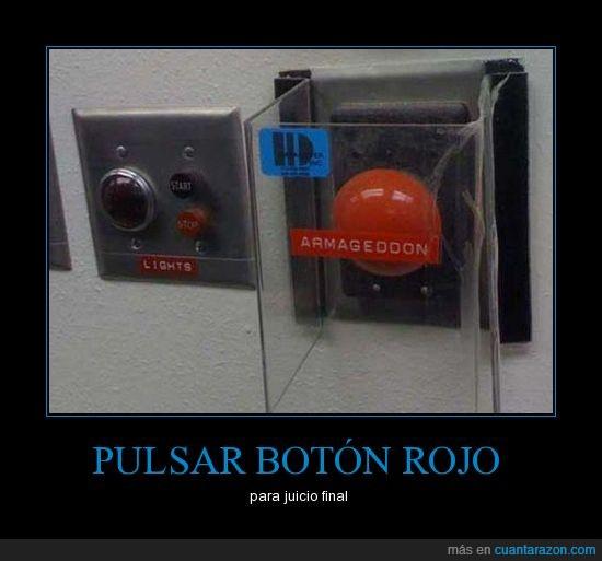 armageddon,botón,juicio final,pulsar,rojo