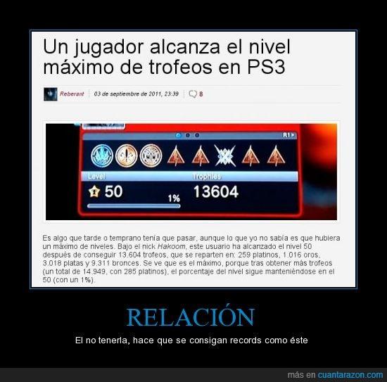 Gamer,libre,PS3,tiempo,Trofeos