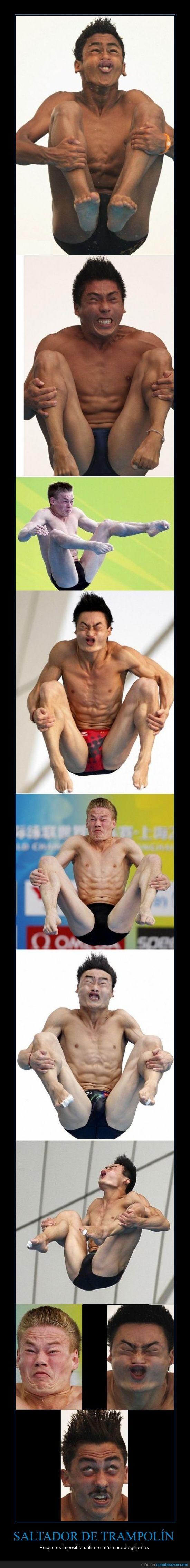 caras,chinos,graciosas,shangai,trampolin