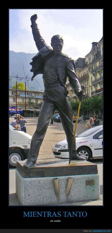 estatua,freddy mercury,montreux,queen