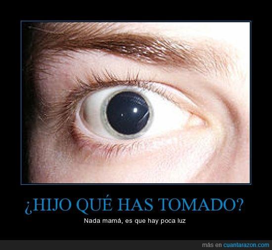 dilatar,drogas,LSD,pupila
