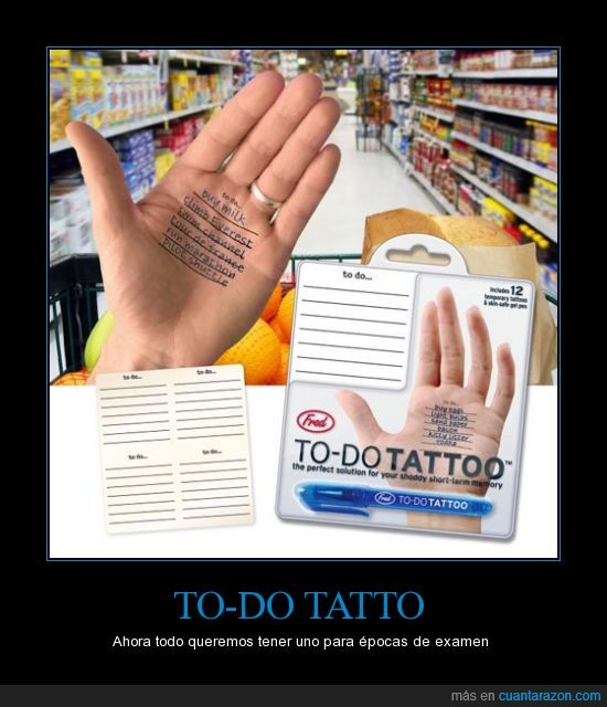 apuntar,hacer,lista,mano,tattoo,tatuaje,to do