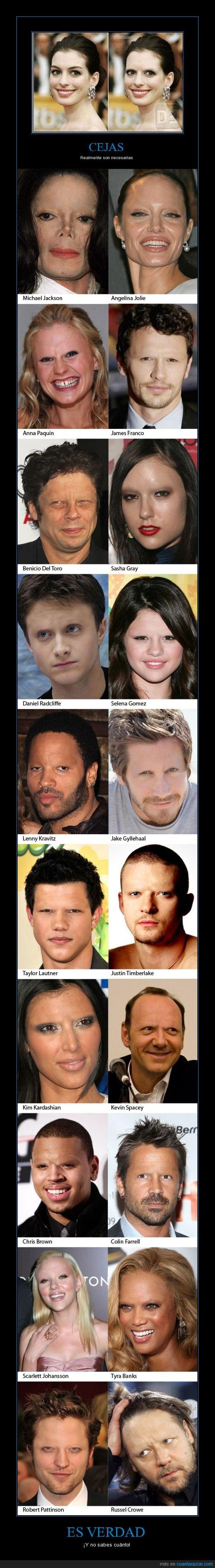 cejas,celebridades,famosos,photoshop